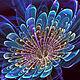"""Кулоны, подвески ручной работы. Кулон  """"Синий цветок Вселенной"""". Serj & Sveta (art-dreams). Ярмарка Мастеров. филигрань"""