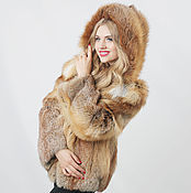 Одежда handmade. Livemaster - original item Real red fox fur jacket / Real fur coat. Handmade.