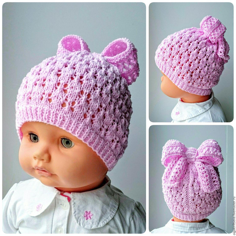 вязаные шапочки фото для девочек