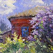 handmade. Livemaster - original item Picture: « Lilac under the window