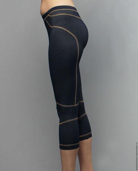 """Спортивная одежда ручной работы. Ярмарка Мастеров - ручная работа. Купить Бриджи """"Jeans line"""" синие. Handmade. Тёмно-синий"""
