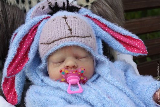 """Для новорожденных, ручной работы. Ярмарка Мастеров - ручная работа. Купить Комплект """"Сонный ослик Иа"""".. Handmade. Голубой, для новорожденной"""