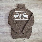 Одежда handmade. Livemaster - original item Knitted sweater with deer (No. №388). Handmade.
