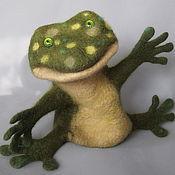 Куклы и игрушки handmade. Livemaster - original item Frog-Wah. Glove puppet.. Handmade.