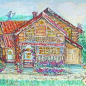 """Картины ручной работы. Ярмарка Мастеров - ручная работа Картина """" Волшебный Дом Счастья """". Handmade."""