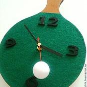 """Для дома и интерьера ручной работы. Ярмарка Мастеров - ручная работа Часы настенные """"Пинг-Понг"""" с бегущим шариком. Handmade."""