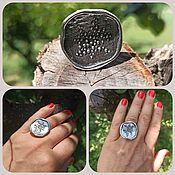 Украшения handmade. Livemaster - original item Very beautiful ring Pond. A very unusual and large ring. Silver. Handmade.