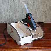 Line handmade. Livemaster - original item Stand for glue gun. Handmade.