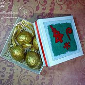 Подарки к праздникам ручной работы. Ярмарка Мастеров - ручная работа Коробочка Новый Год. Handmade.