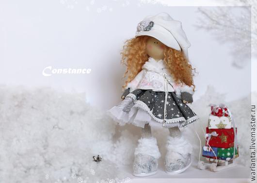Коллекционные куклы ручной работы. Ярмарка Мастеров - ручная работа. Купить Зима. Кукла текстильная. Большеногая девочка. Constance. Handmade.