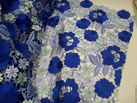 Шитье ручной работы. Ярмарка Мастеров - ручная работа. Купить Кружево Итальянское сине-голубое макраме. Handmade. Голубой
