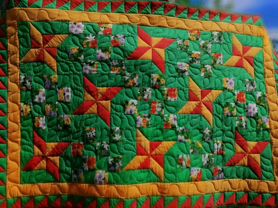 """Лоскутное одеяло """" Цветок"""", Одеяла, Спас-Клепики,  Фото №1"""
