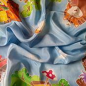 """Аксессуары ручной работы. Ярмарка Мастеров - ручная работа Платок шелк """"Попугай  Кеша""""серия""""Куда уходит Детство?"""". Handmade."""