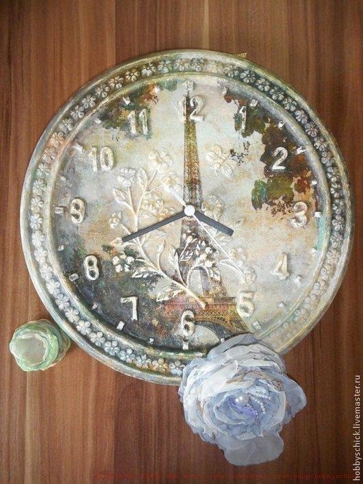 Часы Nostalgie Чтобы с помощью обычного часового механизма, стрелок сделать необычные,  непохожие ни на какие другие часы, достаточно желания, фантазии и основы для часов!!! С помощью декупажных ка