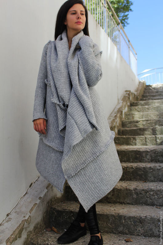 "Верхняя одежда ручной работы. Ярмарка Мастеров - ручная работа. Купить Пальто ""Knitted Winter Days"" V0017. Handmade."