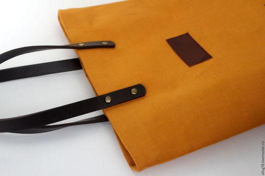 Женские сумки ручной работы. Ярмарка Мастеров - ручная работа. Купить Сумка Houney-3. Handmade. Желтый, yellow, лён
