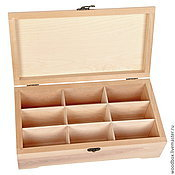 Материалы для творчества handmade. Livemaster - original item 341810 (9) Blank box 34 18 10 decoupage for 9 cells painting. Handmade.
