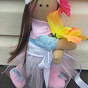 Куклы и пупсы ручной работы. Ярмарка Мастеров - ручная работа Текстильная кукла.  Интерьерная кукла на заказ. Балерина. Handmade.