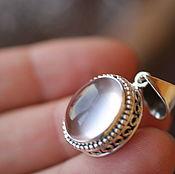Украшения ручной работы. Ярмарка Мастеров - ручная работа очень красивый розовый кварц кулон натуральный камень в серебре. Handmade.