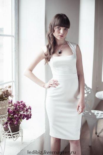 Платья ручной работы. Ярмарка Мастеров - ручная работа. Купить Платье белое. Handmade. Белое платье, короткое платье