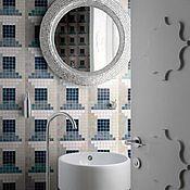 Для дома и интерьера ручной работы. Ярмарка Мастеров - ручная работа Зеркало в мозаичной раме из платиновой мозаики. Handmade.