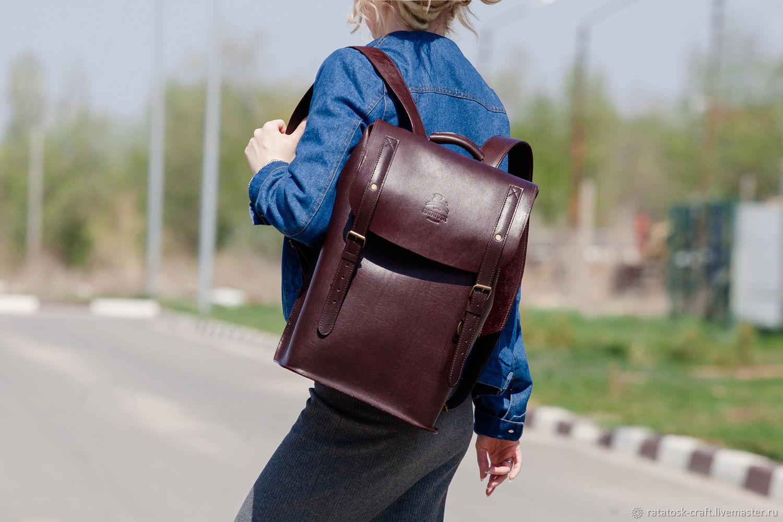 803e9b311c0e Кожаный городской рюкзак ПОРТЛЕНД – купить в интернет-магазине на ...