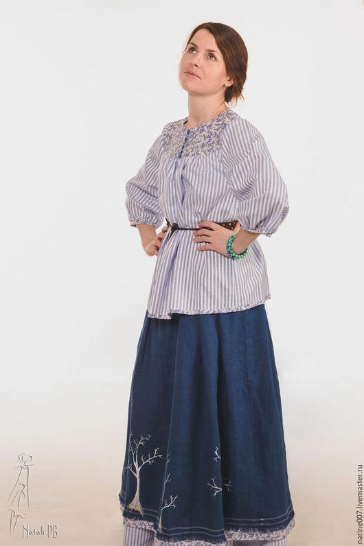 Блузки ручной работы. Ярмарка Мастеров - ручная работа. Купить Блуза в русском стиле  из коллекции весна 2016. Handmade.