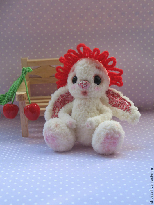 Игрушки животные, ручной работы. Ярмарка Мастеров - ручная работа. Купить Вязаная игрушка зайка Вишенка (зайчик, зайчонок). Handmade.