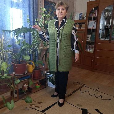 Clothing handmade. Livemaster - original item Jackets:Mohair vest Autumn melody.. Handmade.