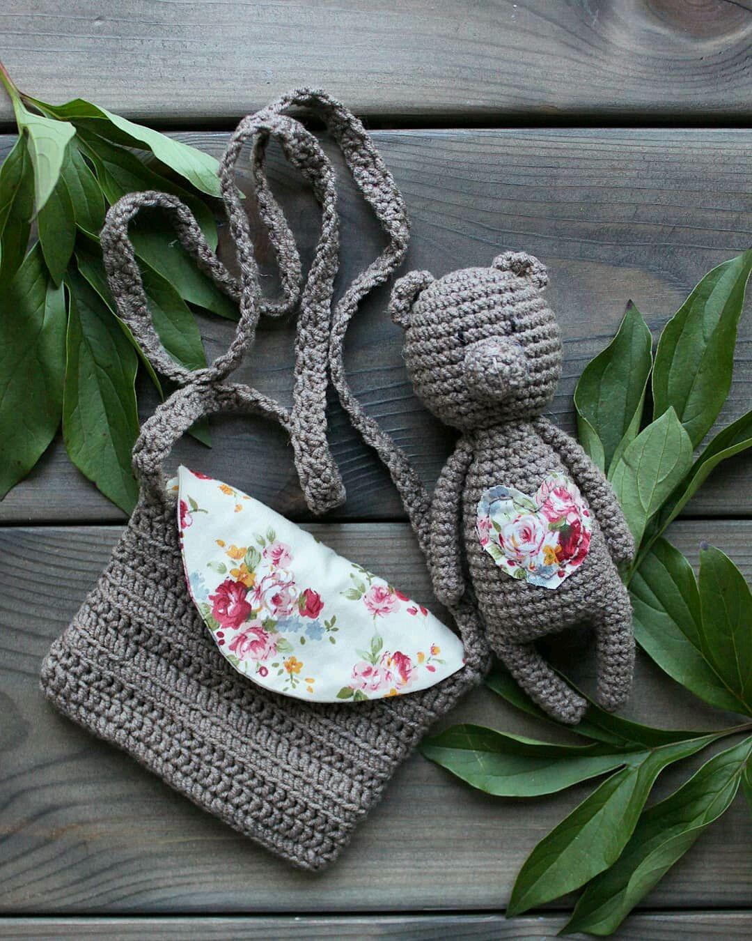 Детская сумочка вязаная с хлопковым подкладом, Сумки, Омск, Фото №1
