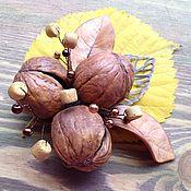 """Украшения ручной работы. Ярмарка Мастеров - ручная работа """"Три орешка для ..."""" Брошь. Handmade."""