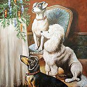 Картины и панно handmade. Livemaster - original item Christmas eve. Oil painting.. Handmade.