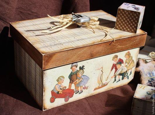 """Детская ручной работы. Ярмарка Мастеров - ручная работа. Купить Короб для игрушек """"Играем..."""". Handmade. Короб для игрушек, детская"""