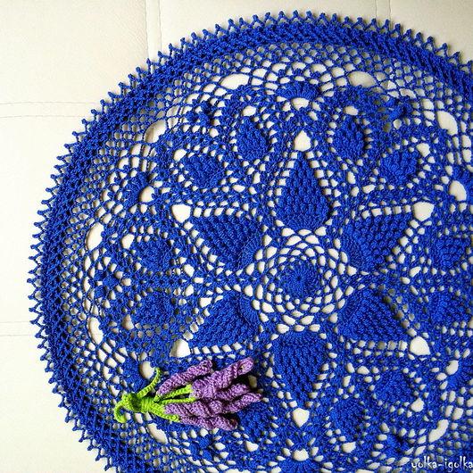 Текстиль, ковры ручной работы. Ярмарка Мастеров - ручная работа. Купить Салфетка синего цвета. Handmade. Салфетка, ажурная салфетка