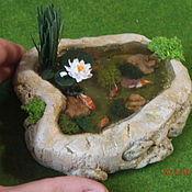 Куклы и игрушки ручной работы. Ярмарка Мастеров - ручная работа Водоём  миниатюра 1:12 минипрудик. Handmade.