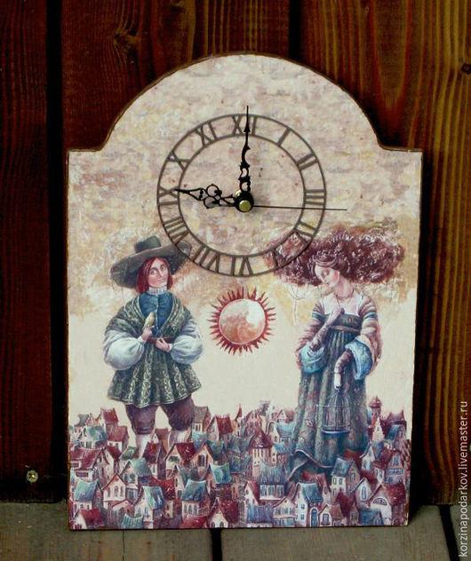 Часы для дома ручной работы. Ярмарка Мастеров - ручная работа. Купить Часы Элегия. Handmade. Комбинированный, часы настенные