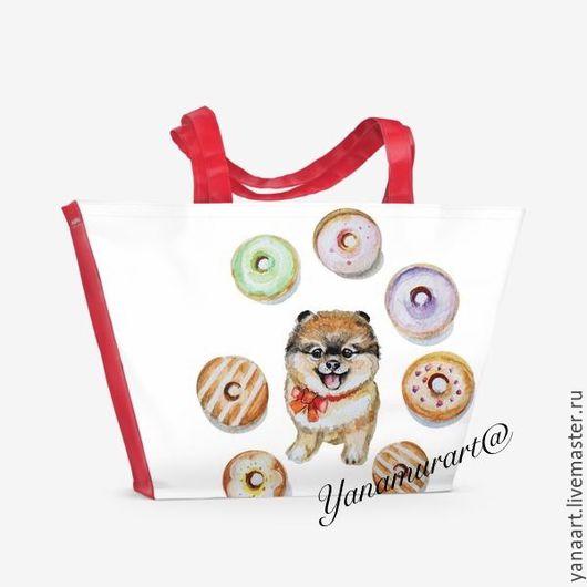 Женские сумки ручной работы. Ярмарка Мастеров - ручная работа. Купить Мимишкины хвасталки. Handmade. Ярко-красный, сумка для пляжа