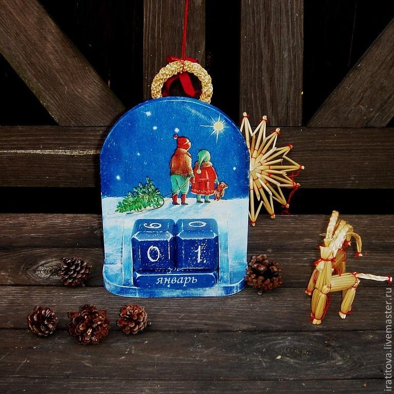 """Вечный календарь """"Чудо Рождества"""", Корзины коробы, Москва, Фото №1"""