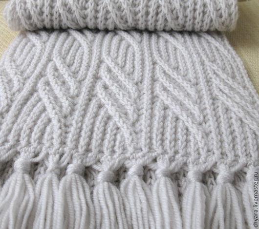 Шарфы и шарфики ручной работы. Ярмарка Мастеров - ручная работа. Купить Светло-серый почти белый шарф Иней в ноябре.. Handmade.