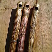 Музыкальные инструменты ручной работы. Ярмарка Мастеров - ручная работа Калюка - обертоновая флейта. Handmade.