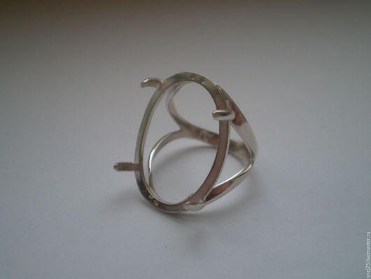 Основа для кольца  из серебра 925 пробы №4 с кастом под кабошон 25х18
