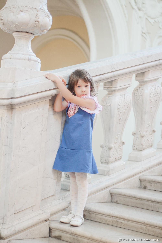 Сарафан из хлопковой джинсы для девочки, Платья, Санкт-Петербург,  Фото №1