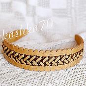 handmade. Livemaster - original item the bezel is made of birch bark. Headband. Braided headband.. Handmade.