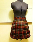 Одежда handmade. Livemaster - original item Plaid skirt, plaid, wool. Handmade.