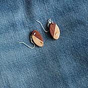 Украшения ручной работы. Ярмарка Мастеров - ручная работа Серьги из двух экзотических пород дерева. Handmade.