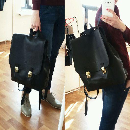"""Рюкзаки ручной работы. Ярмарка Мастеров - ручная работа. Купить рюкзак """"Рам"""". Handmade. Однотонный, рюкзак, рюкзак женский"""
