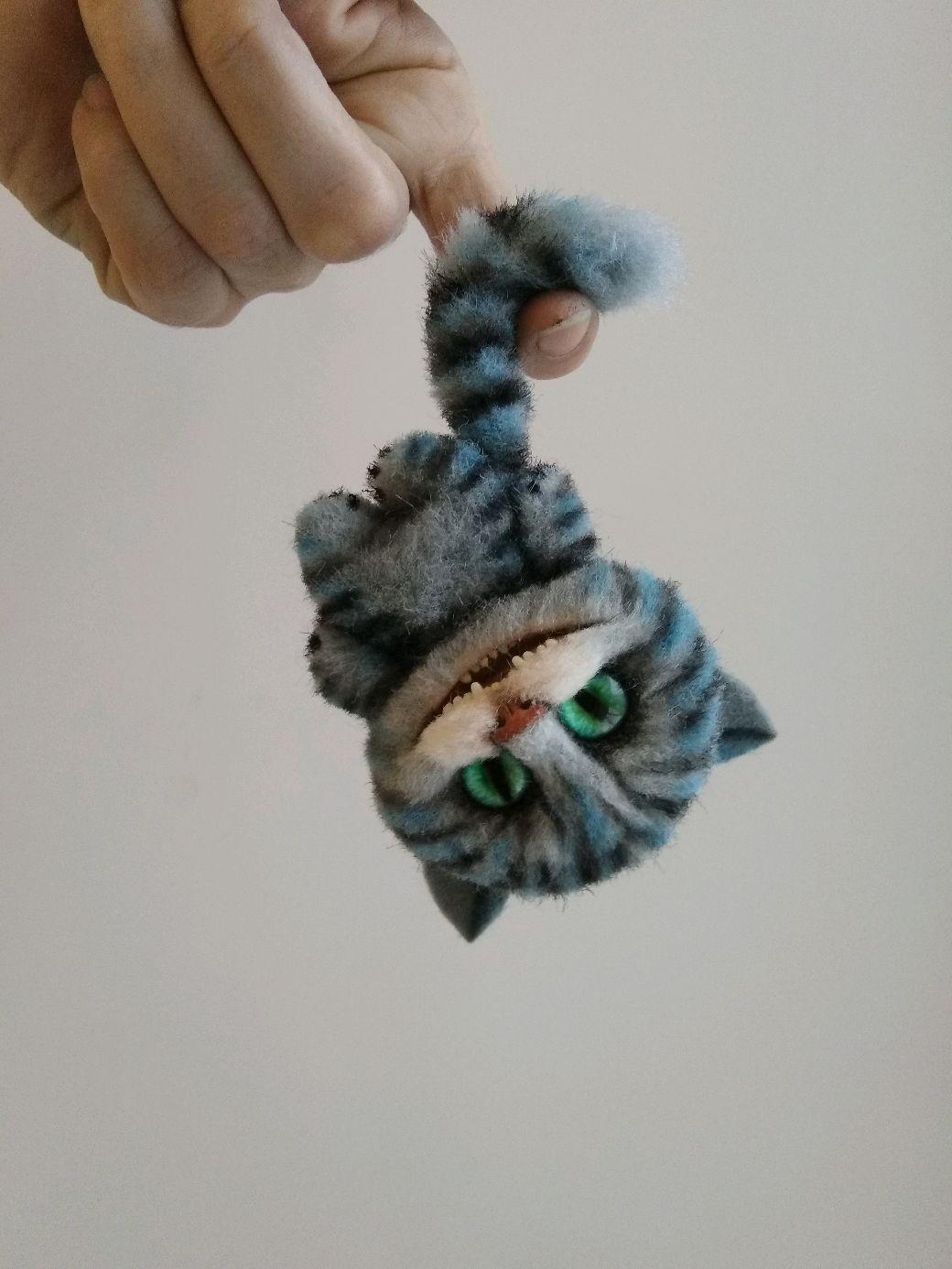 Коты из полимерной глины и меха