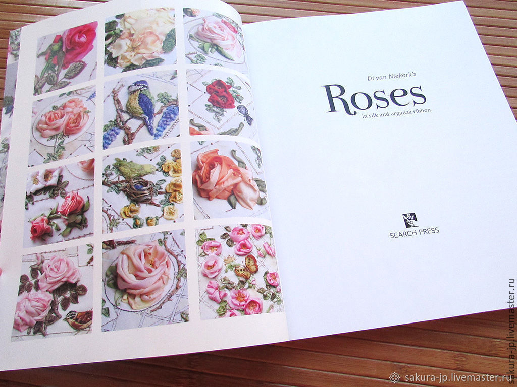 The book on embroidery ribbon Roses: in silk and organza ribbon – shop  online on Livemaster with shipping - 66117COM | Khmelnitsky