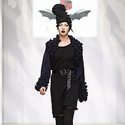 Одежда ручной работы. Ярмарка Мастеров - ручная работа DP_012 Болеро черное с синим люрексом с отделкой из ЮЛЫ. Handmade.