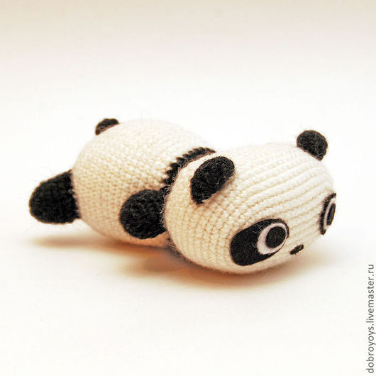 Игрушки животные, ручной работы. Ярмарка Мастеров - ручная работа. Купить Панда ленивая. Handmade. Чёрно-белый, амигуруми, крючком